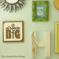 Burlap Wall Art with Wood Cutout - The Country Chic Cottage