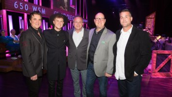 Pictured (L-R): Big Machine Label Group President/CEO Scott Borchetta, Trent Harmon, Grand Ole Opry Vice President/GM Pete Fisher, Big Machine Records SVP Promotion Jack Purcell and 19 Entertainment EVP/Worldwide Head of Music Jason Morey Photo Credit: Chris Hollo | ©2016 Grand Ole Opry