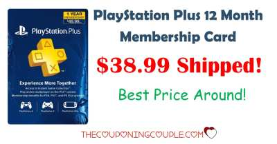 Playstation Plus 12 Month Membership Card - $38.99 Shipped!