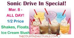 Captivating Sonic Drive S Sonic Half Price Shakes Over Sonic Half Price Shakes Time 2018 Deal Sonic Drive