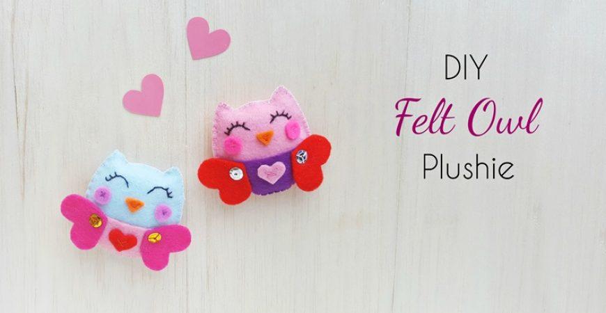 DIY Felt Owl Plush - Free Pattern - The Craftaholic Witch DIY Felt