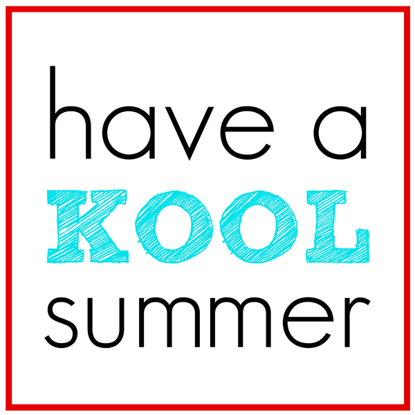 Have a KOOL Summer Printable End of Year Gifts - grocery template printable