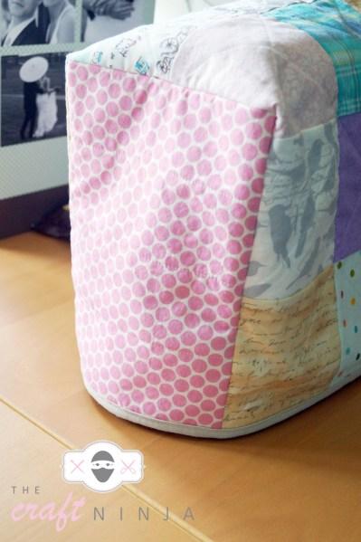 Sewing machine cover, side CU