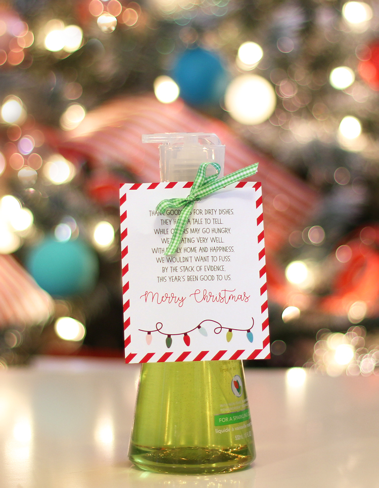 Dish Soap Punny Christmas Gift Idea - thecraftpatchblog