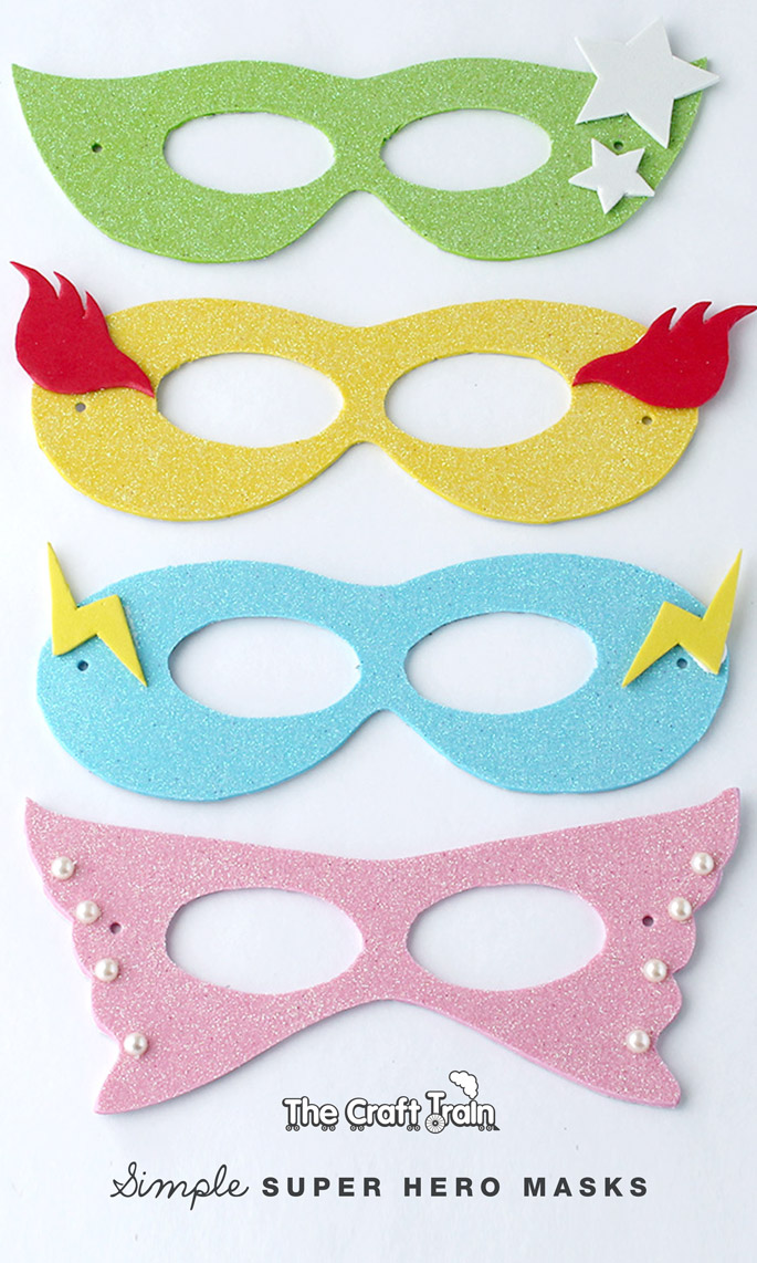 Simple super hero masks with printable template The Craft Train