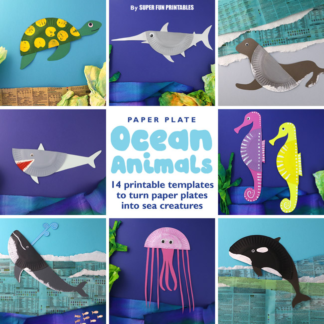 14 Paper Plate Ocean Animals The Craft Train