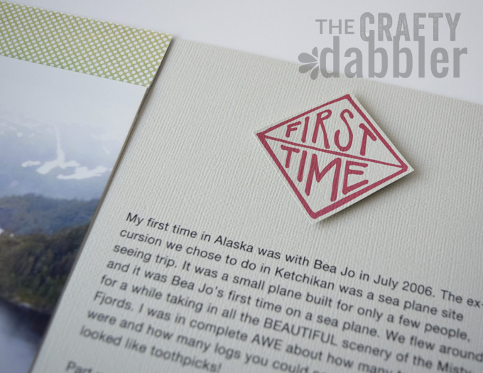 """A two page layout using the AE Story Stamps & Story Kit """"Firsts"""""""