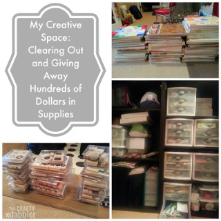 My Creative Space: Clearing Out and Giving Away Hundreds of Dollars Worth of Supplies