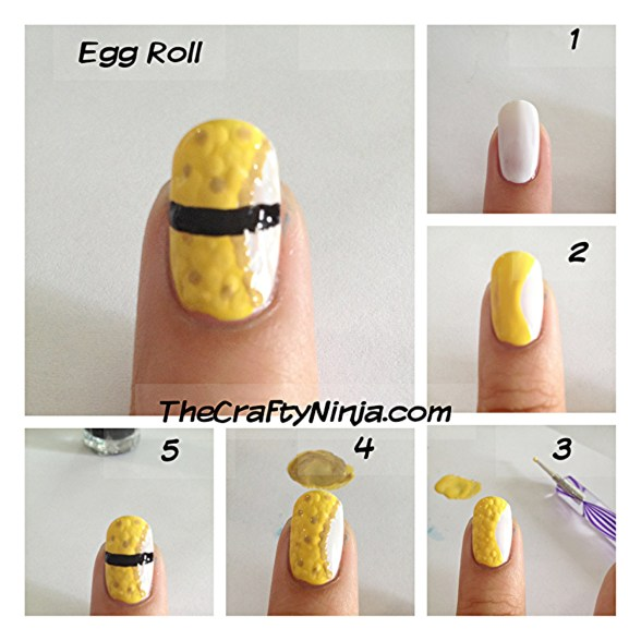 egg roll nails