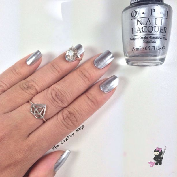 Opi push and shove the crafty ninja for Mirror nail polish