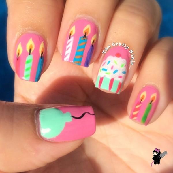birthday nails crafty