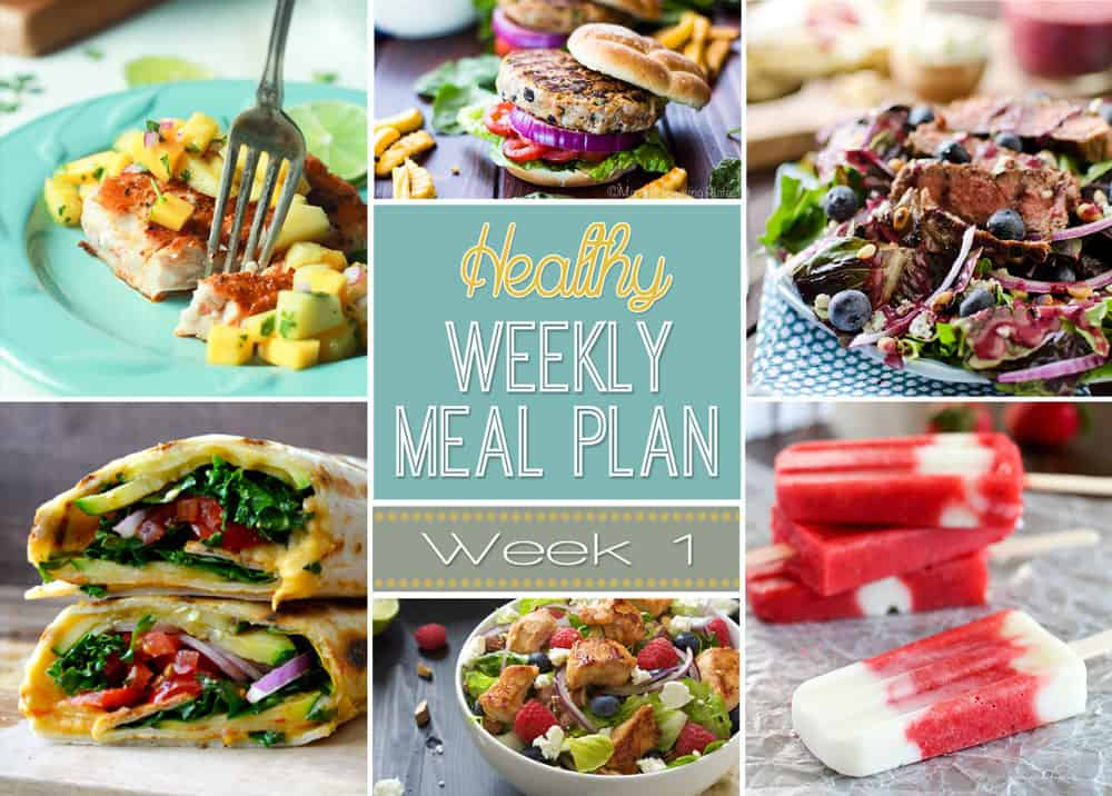 Weekly Healthy Meal Plan #1 \u2013 Yummy Healthy Easy - weekly healthy meal plan