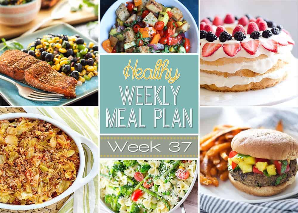 Healthy Weekly Meal Plan Week 37