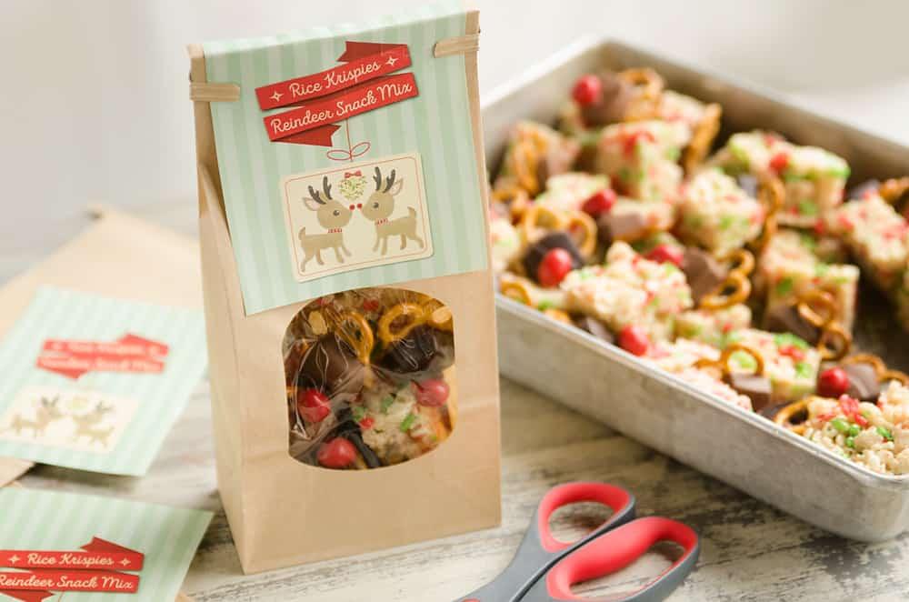 Peanut Brrr-ittle MM\u0027S® Reindeer Snack Mix with FREE Printable