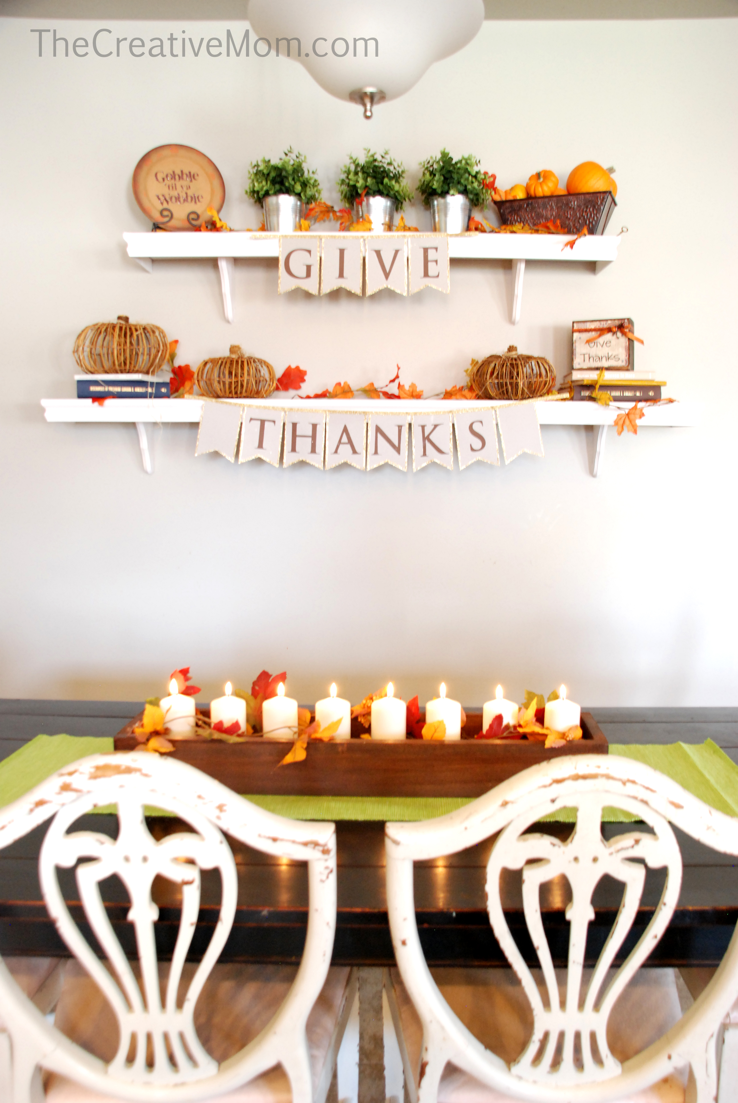 Thanksgiving centerpiece the creative mom