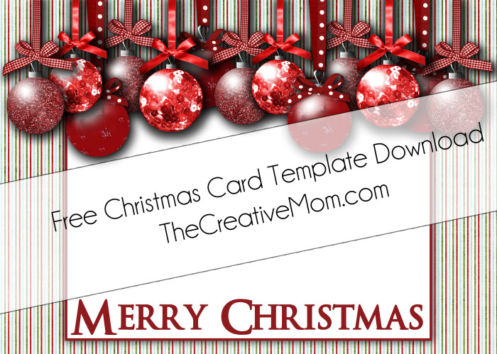 Christmas Card Templates {Free Download} - The Creative Mom - free xmas card template