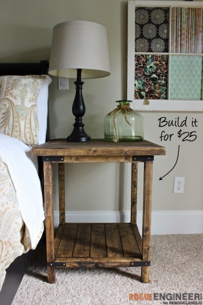 17 simple furniture building plans for beginners the Simple bedside table designs
