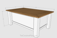 How to Build a Farmhouse Coffee Table (with storage)- free ...