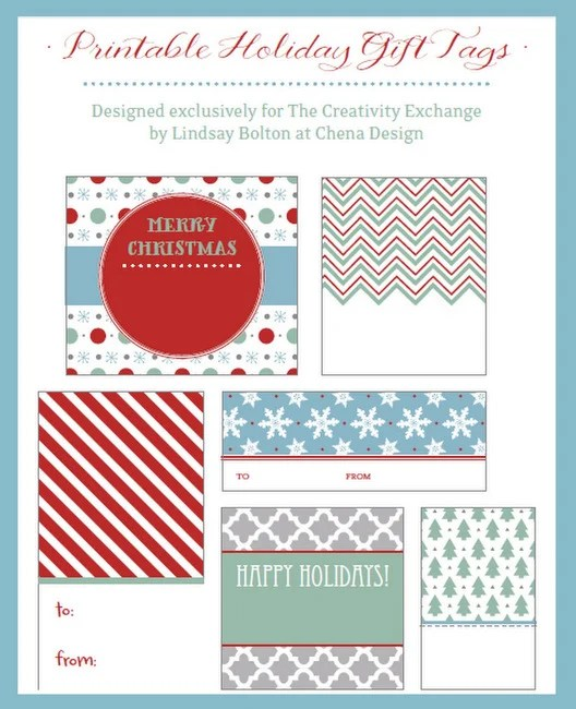 Free Printable Christmas Gift Tags  Labels {December Printable of