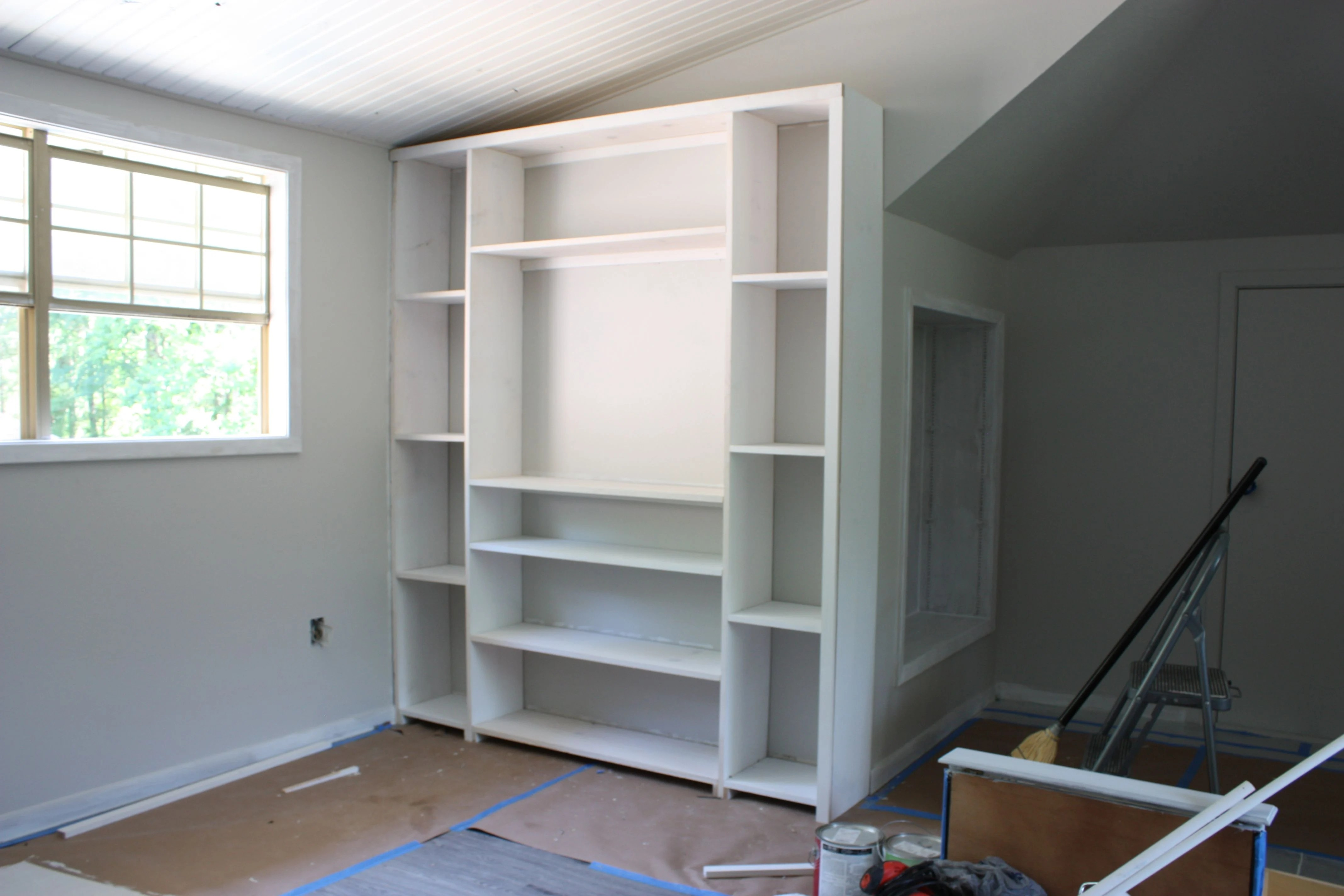 How to build inexpensive built ins using pre made stock cabinets and standard size plywood The Creativity Exchange