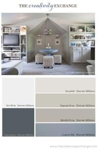 Office/Craft Room Paint Color Palette (Paint It Monday)..
