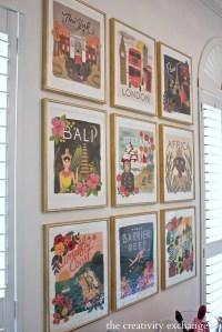 DIY Framed Calendar Prints