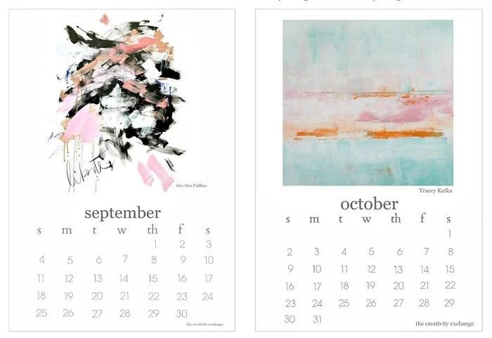 2016 Free Printable Calendar Artist Collaboration Project - free printable calendar