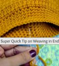 1 Super Quick Crochet Tip on Weaving in Ends!