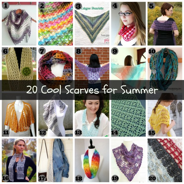 20 scarves with banner