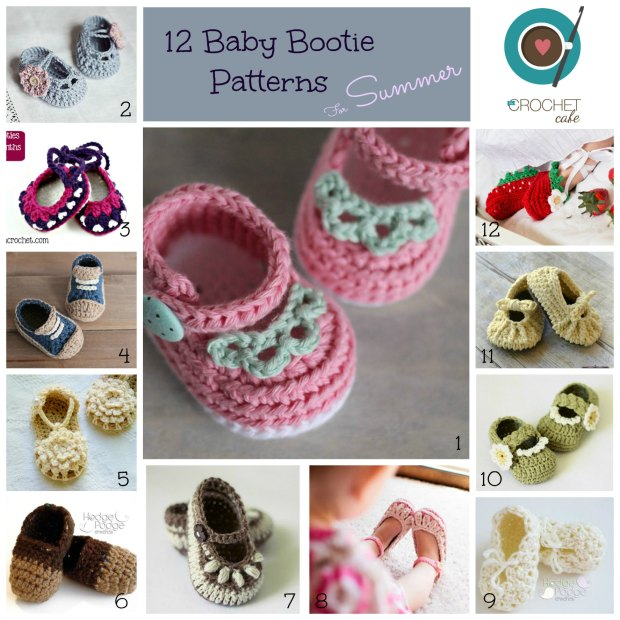 Summer Baby Booties numbered