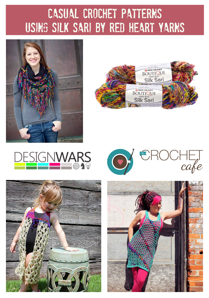 Casual Crochet Patterns With Silk Sari By Red Heart Yarns The