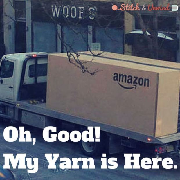 my yarn is here
