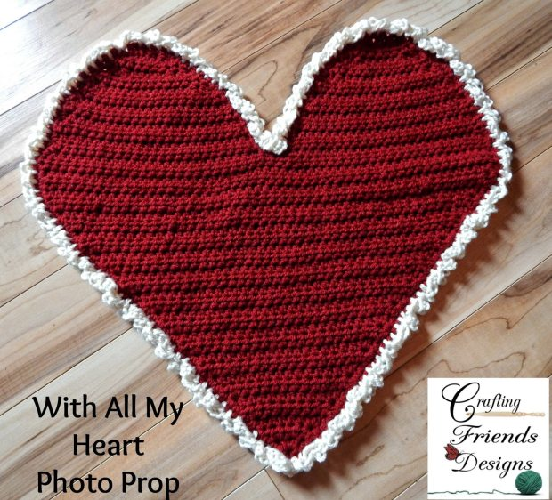 With All My Heart Small Photo Prop