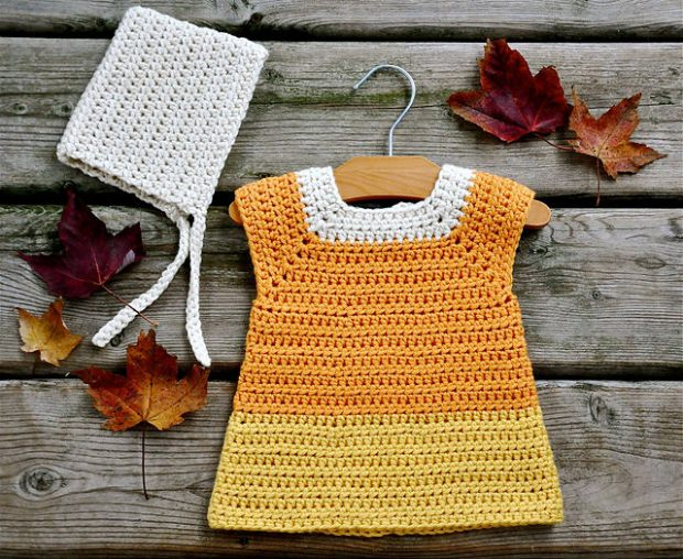 Baby Candy Corn Costume by Ball Hank n' Skein