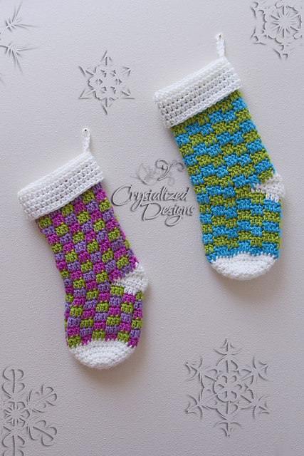 Blitzen Stocking by Crystalized Designs