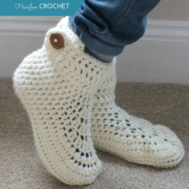 Chunky Slipper Boots by HanJan Crochet