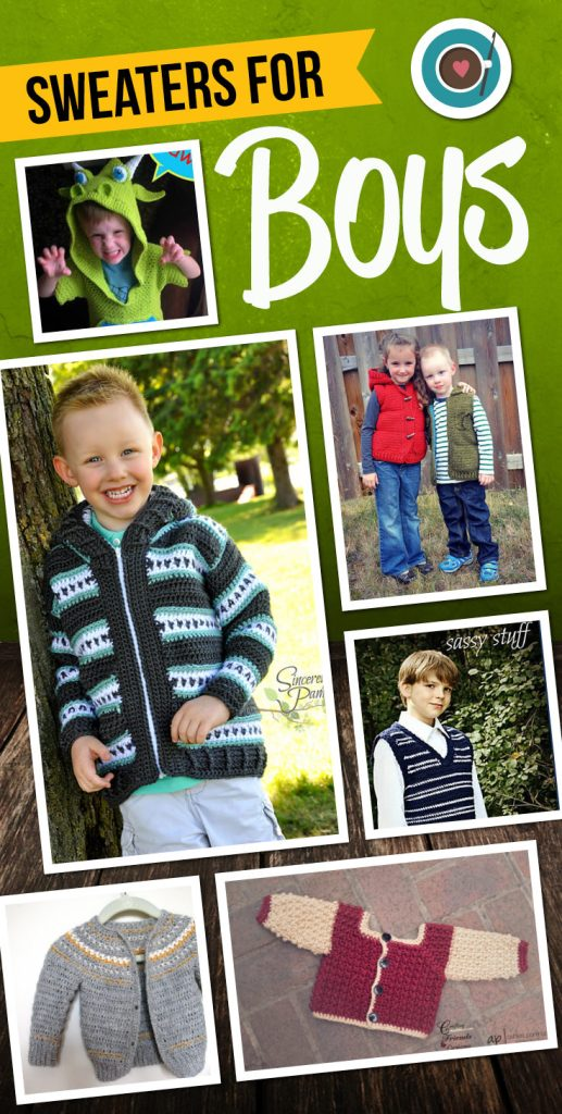 Crochet Patterns for Boys Sweaters