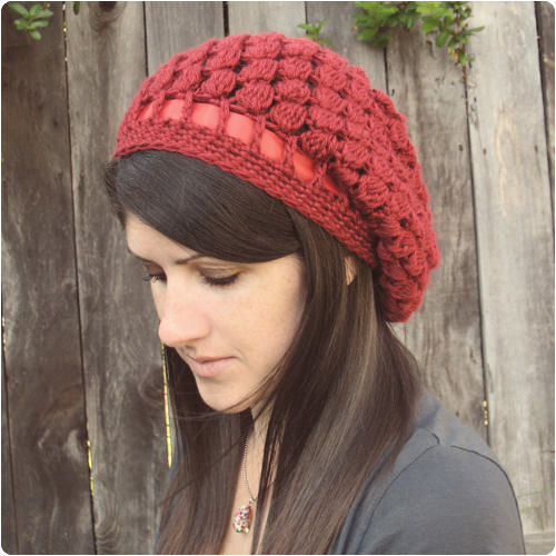 Pinecone Slouchy Hat by Gleeful Things
