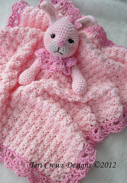 1. Bunny Huggy Blanket by Teri Crews