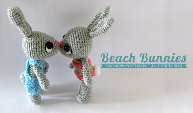 Beach Bunnies_Free Amigurumi Pattern by Tales of Twisted Fibers