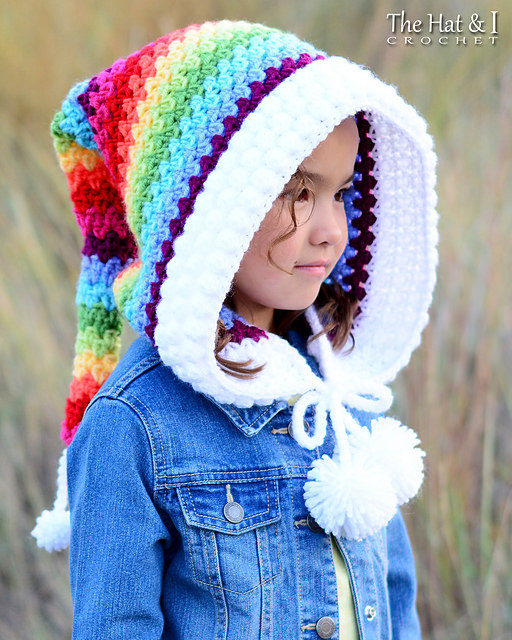 Over the Rainbow Hood by The Hat & I