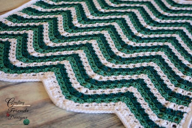 2 Sea Breeze Chevron Afghan by Crafting Friends