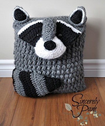 Ringo Raccon Pillow and Bag by Sincerely, Pam