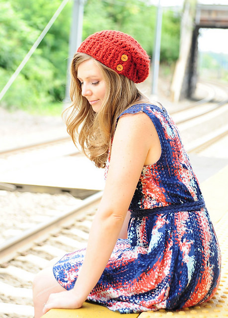 Button Tab Slouchy Hat by Simply Made by Erin