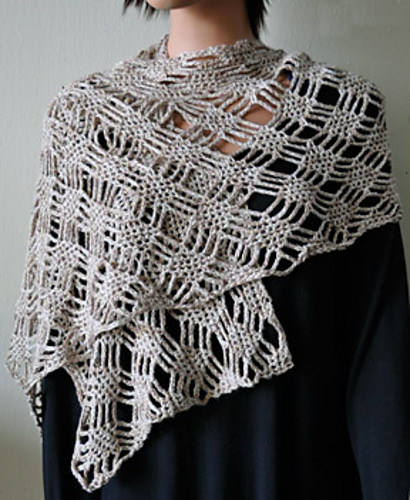Panda Pearl Spider Lattice Stole by Cathy Campbell