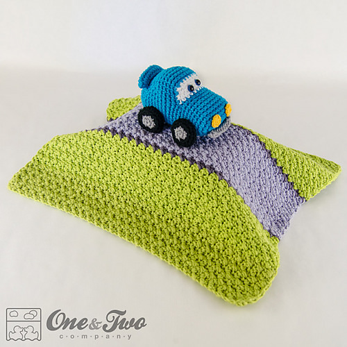 Racing Car Lovey Security Blanket by One and Two Company