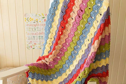 Vintage Fan Ripple Blanket by A Creative Being