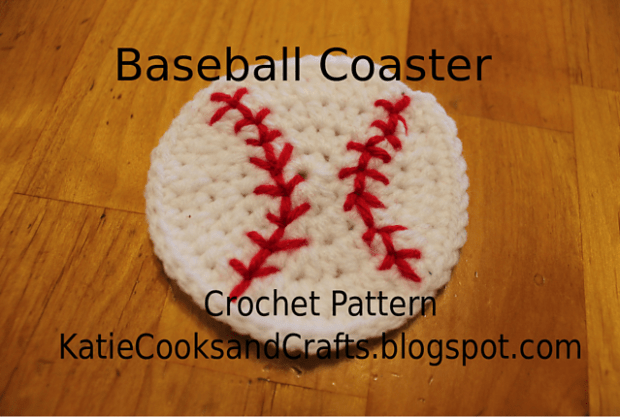 FREE Baseball Coaster by Katie Chase