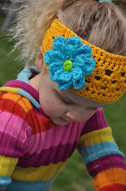 Blooming Headband w Flower by Snappy Tots