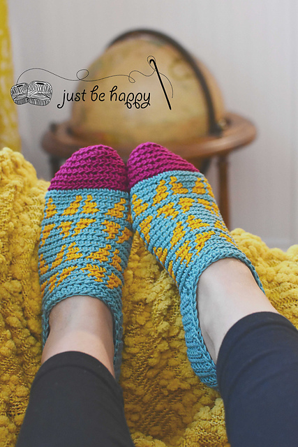 Fair Isle Slippers by Alessandra Hayden
